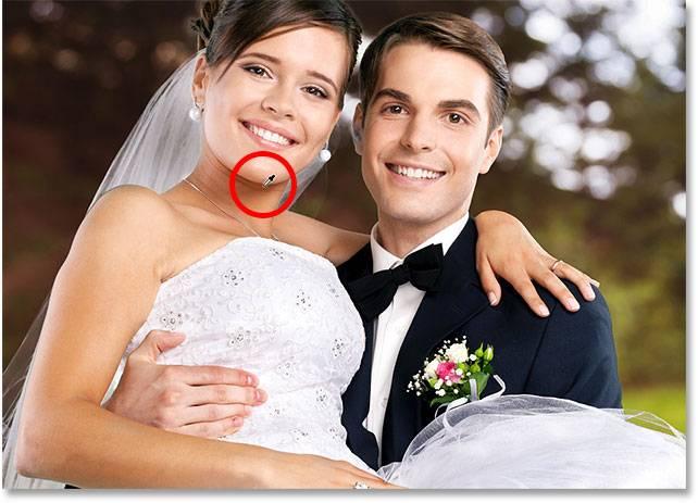 Свадебная обработка снимка - шаг 13-3