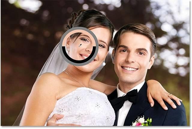Свадебная обработка снимка - шаг 7