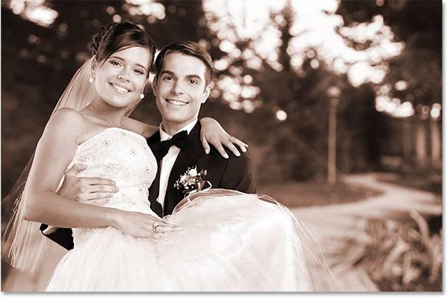 Свадебная обработка снимка - шаг 8-4