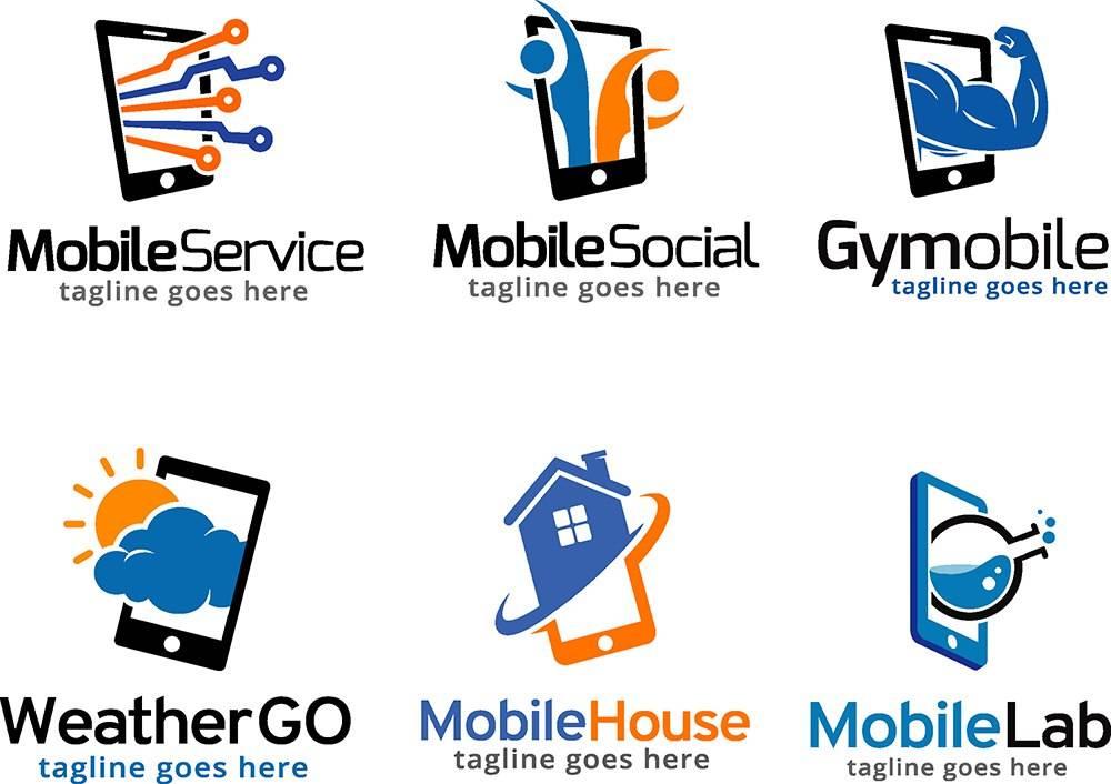 Исходники логотипов - логотипы мобильных приложений и систем оплаты