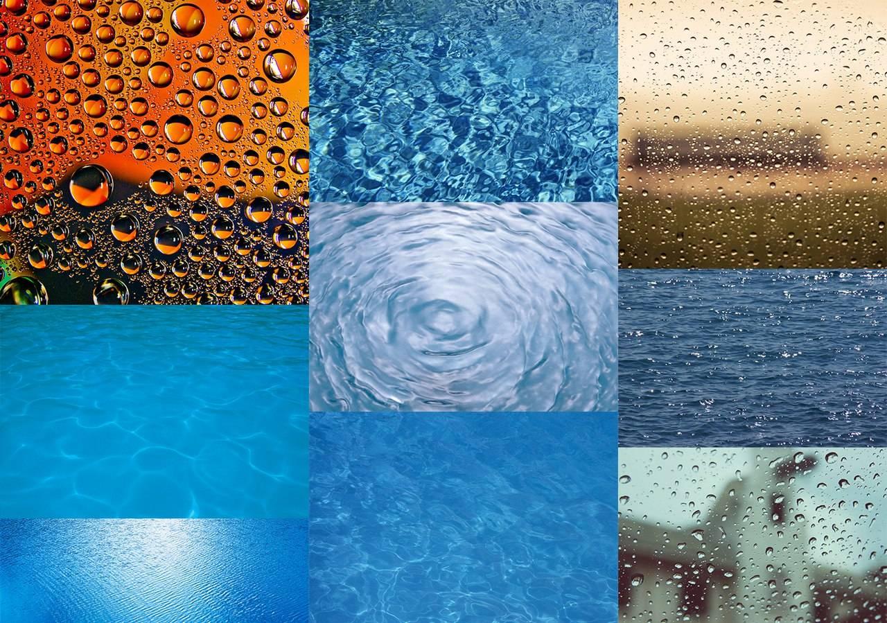 Бесшовные и обычные текстуры воды для фотошопа