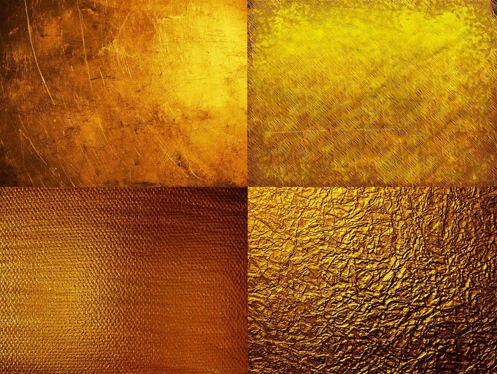 Большие текстуры золота для фотошопа
