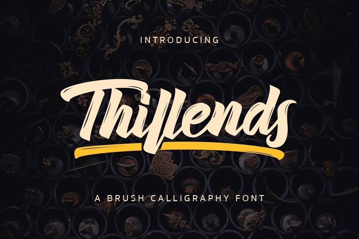 Шрифт - Thillends Латиница