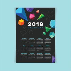Календарь 2018 с абстракцией