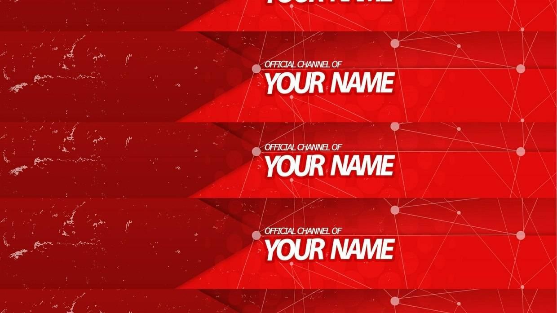 Красный дизайн для канала или группы вконтакте