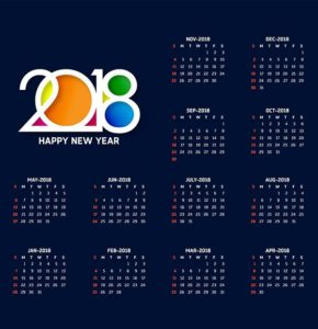 перекидной календарь 2018 шаблон