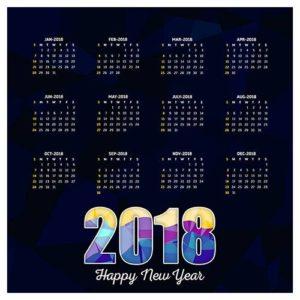 шаблон календаря 2018 скачать