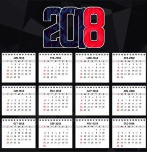 Шаблон календаря - год собаки