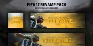 Шаблон оформление в стиле игры Fifa 17
