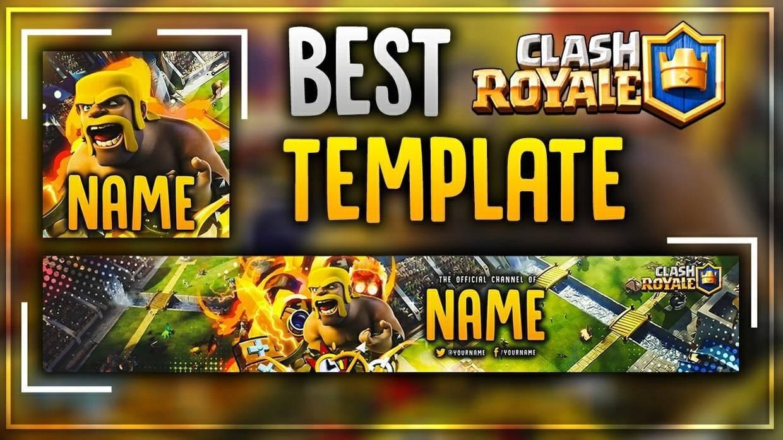 Шапка + Аватар для канала на ютубе - Clash Royale