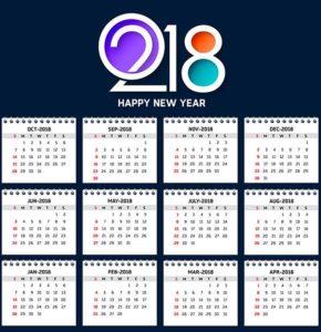Собака - календарь на 2018 год