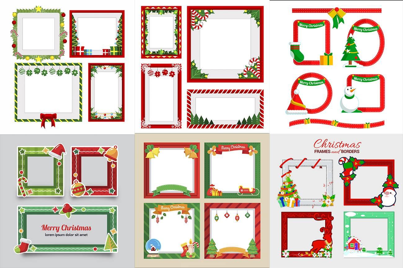 Новогодние рамки для фотошопа
